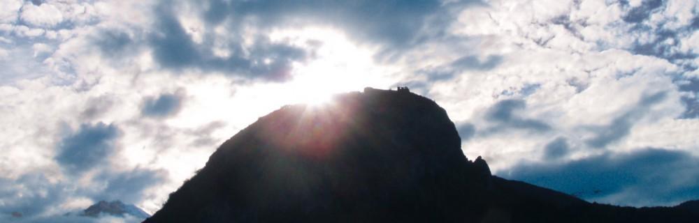 Le château de Montségur vue de la terrasse du gite